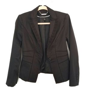 WHBM Fitted Blazer with Lapel and Waist Details
